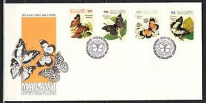 Malawi-Scott-cat-616-619-Butterflies-issue-on-a-First-day-cover
