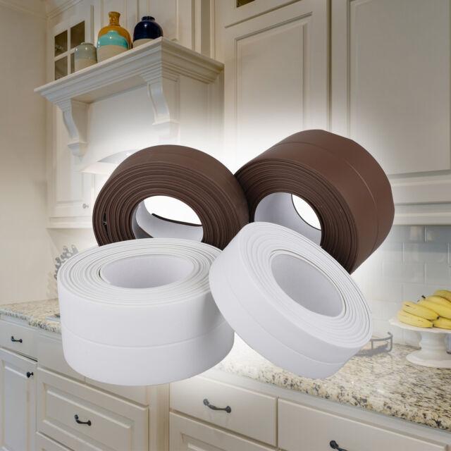 10.5FT Kitchen Bath Wall PVC Sealing Strip Self Adhesive Washing Sink Edge Tape