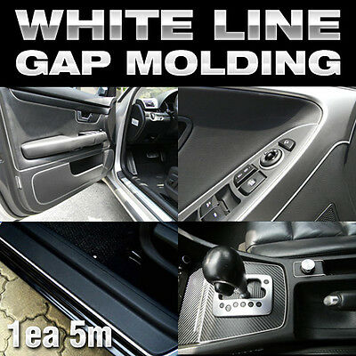Edge Gap White Line Interior Trim Molding 5meter For CHEVROLET 2010-2016 Orlando