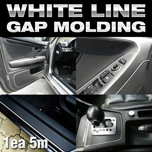 Edge Gap White Line Interior Trim Molding 5meter For RENAULT 10-16 Fluence SM3