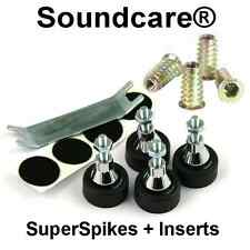 1 Set M8 SoundCare SuperSpikes Speaker / Loudspeaker  Spikes.NEW + M8 Inserts