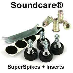 1-Set-M8-SoundCare-SuperSpikes-Speaker-Loudspeaker-Spikes-NEW-M8-Inserts