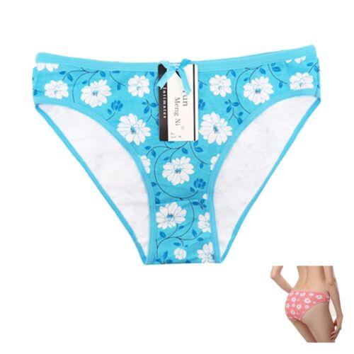 2 Paires Femmes Pastel Fleur Design Culottes Slips Sous-vêtements Culotte Bikini