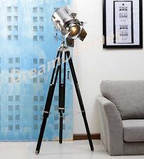 look di Design Vintage searchlight Faretto Telescopico Tripod Lampada da terra