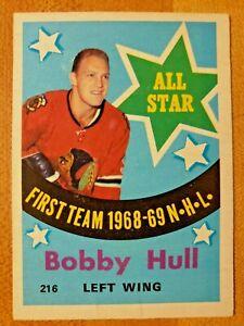 1969-70-O-Pee-Chee-OPC-Bobby-Hull-216-All-Star-Chicago-Blackhawks