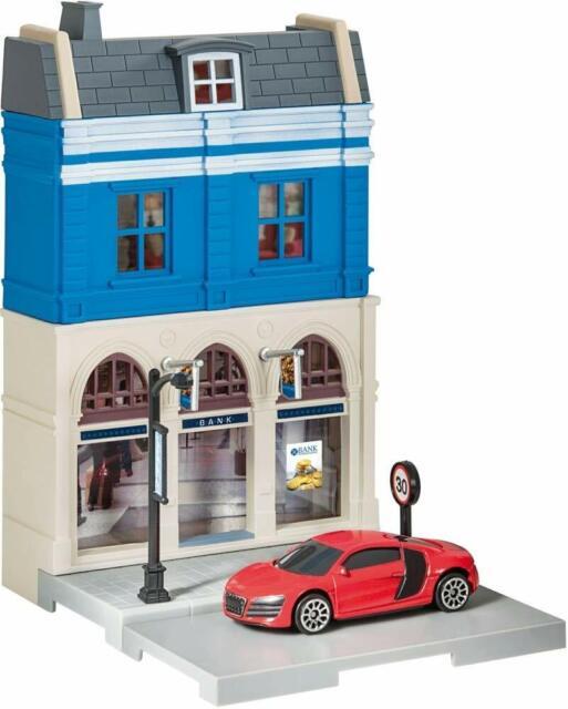 Neu Herpa City 800075-1//64 Feuerwehr-Gebäude Mit Einsatzleitfahrzeug