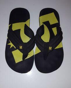 519c3c5954d65b DC Shoes MENS BOYS Black Green Logo Flip Flop Thong Sandals US Size ...