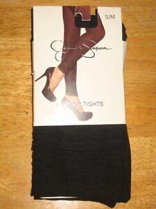 NWT-Jessica-Simpson-Fashion-Tights-Jet-Black-Size-S-M