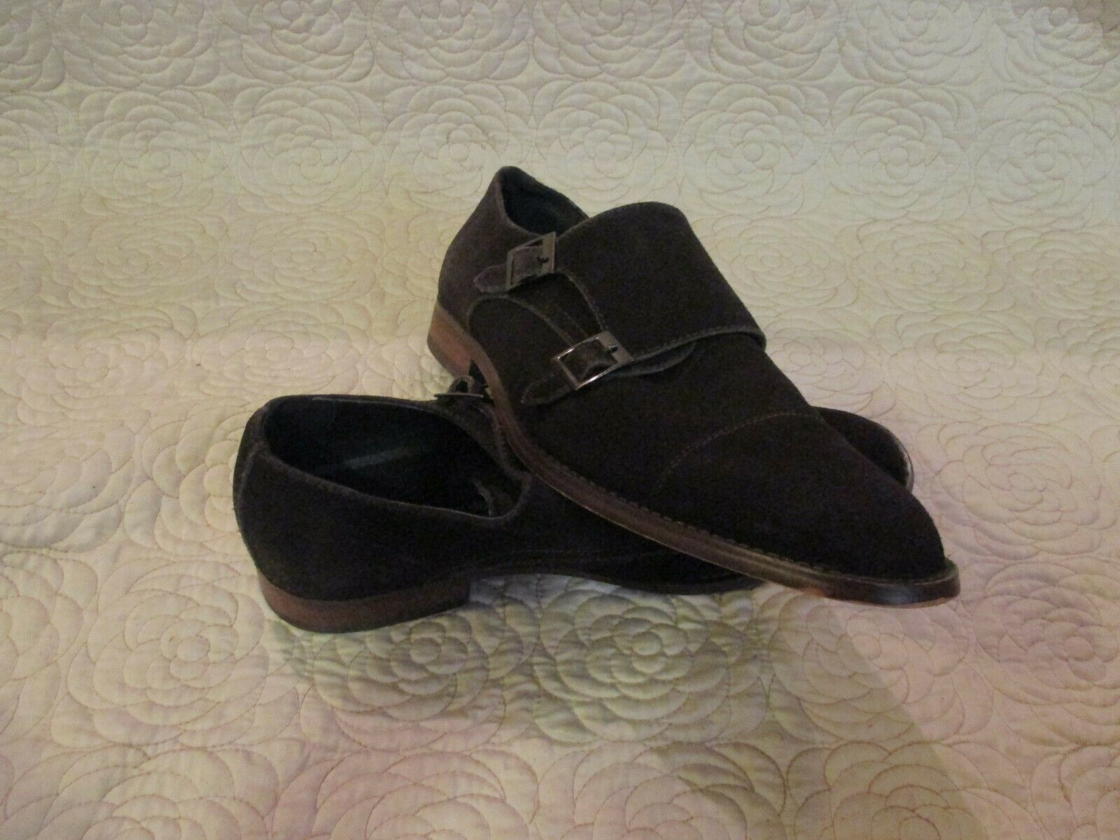Joseph Abboud Men's Leather Double Monk Strap Loafer Dress Shoe 9