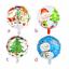 Buon-Natale-Palloncini-In-Lattice-Verde-amp-Rosso-Decorazione-Natalizia-elio