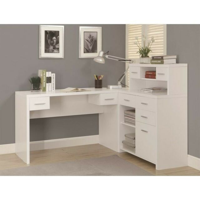 Hollow Core L Shaped Home Office Desk