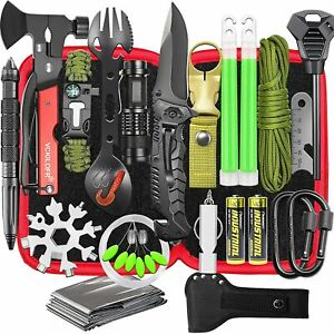 Gifts for Men Dad Husband Fathers, Camping Survival Gear and Equipment Kit