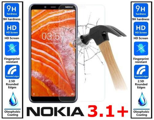 Vidrio templado genuino 100/% Invisible Protector de pantalla para Nokia 3.1 Plus