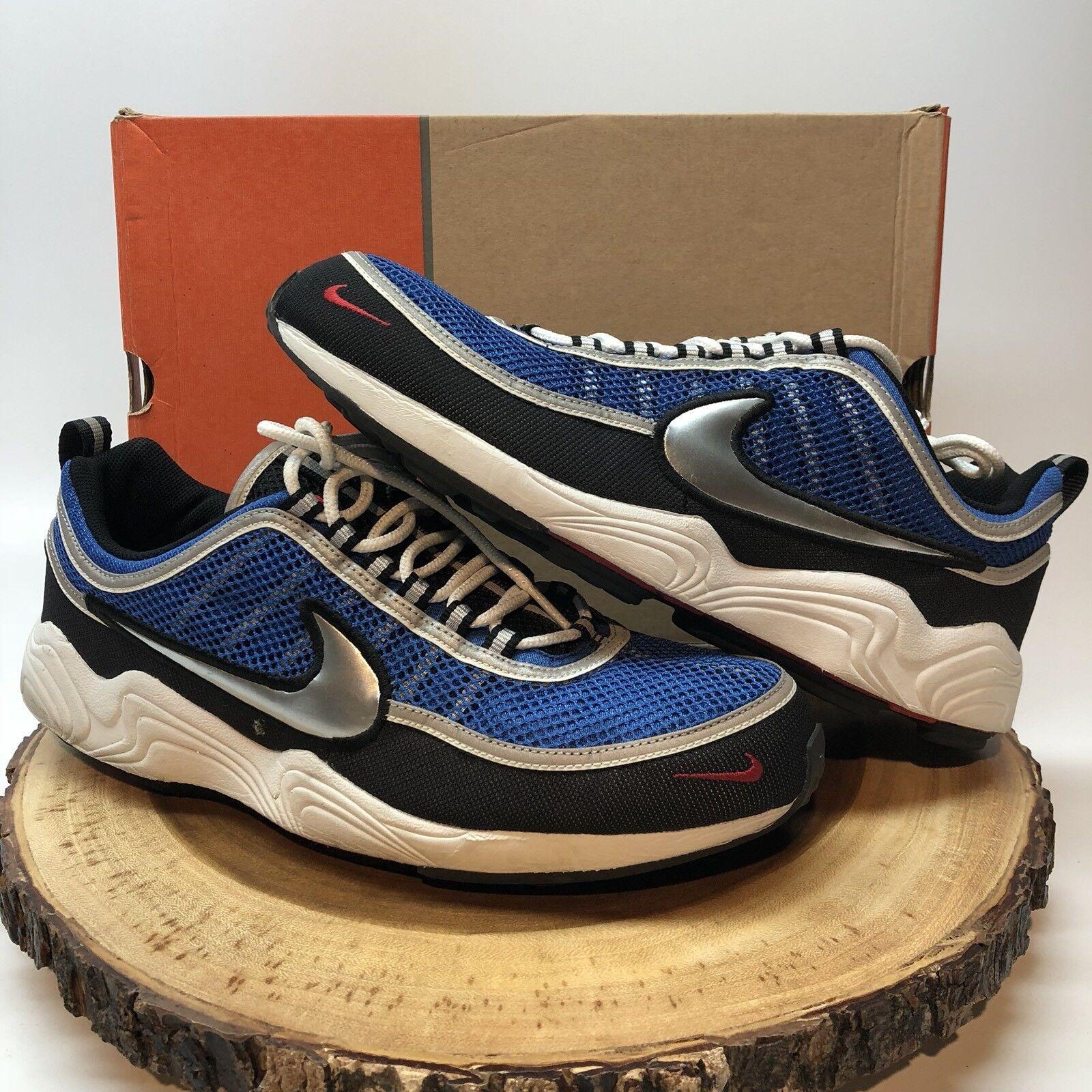 Nike zoom spiridon varsity royal argento metallico 311298 401 taglia 12 max 95 97 98