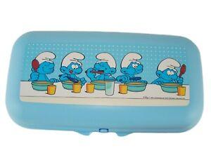 Tupperware-To-Go-Maxi-Twin-SCHLUMPFE-Brotdose-Snackbox-Maxi-SMURFS