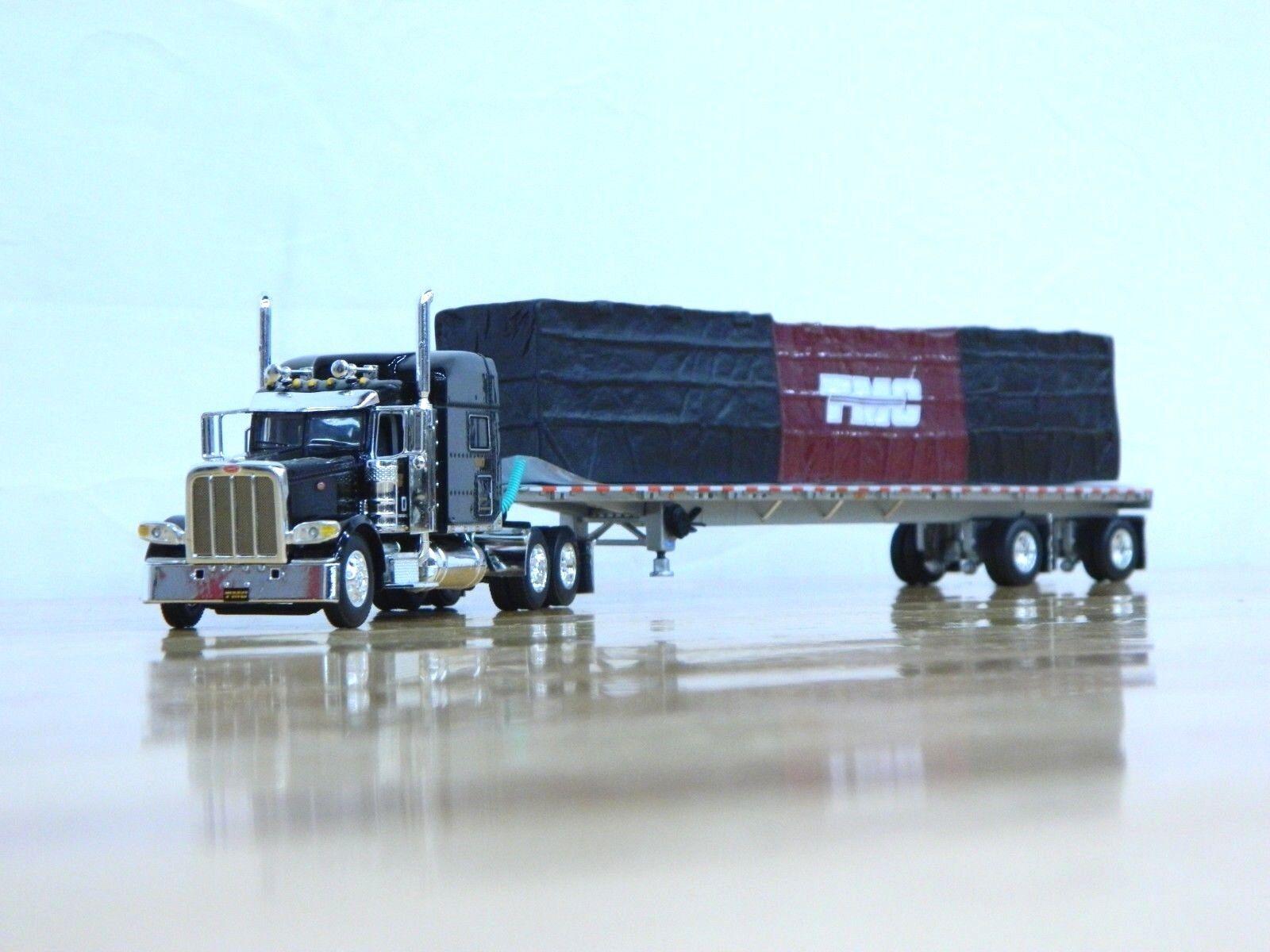 DCP  TMC Trans  Peterbilt 389 w Flatbed Trailer & Load 1 64