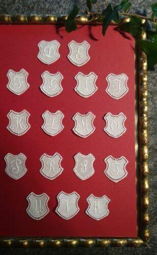 """1940-1955er JahreArt Schweiz 6 Stück Monogramme /""""Wappen standard/"""" 7155"""