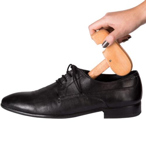 2 Paires Embauchoirs Bois de Lotus Formes à Chaussures EU Femme Homme réglable