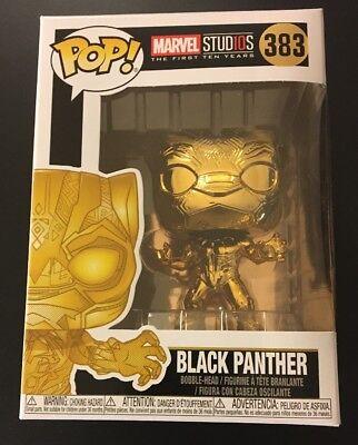 Chrome Black Panther #383 Funko POP Marvel Studio/'s 10th Anniversary