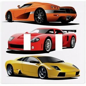 Image Is Loading Sports Cars Red Yellow Orange Wall Plate Decorative