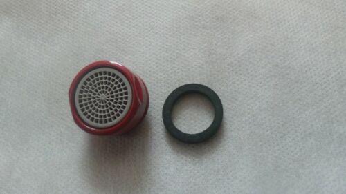 Strahlregler  Luftsprudler Mischdüse AG M24x1  chrom rot