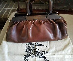 8483ddd81409 La foto se está cargando Autentico-Gucci-Tom-Ford-Cuero-Marron-Bolsa-De-