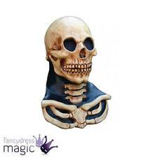 Boys Skeleton Skull Halloween Fancy Dress Full Latex Head And Neck Costume Mask