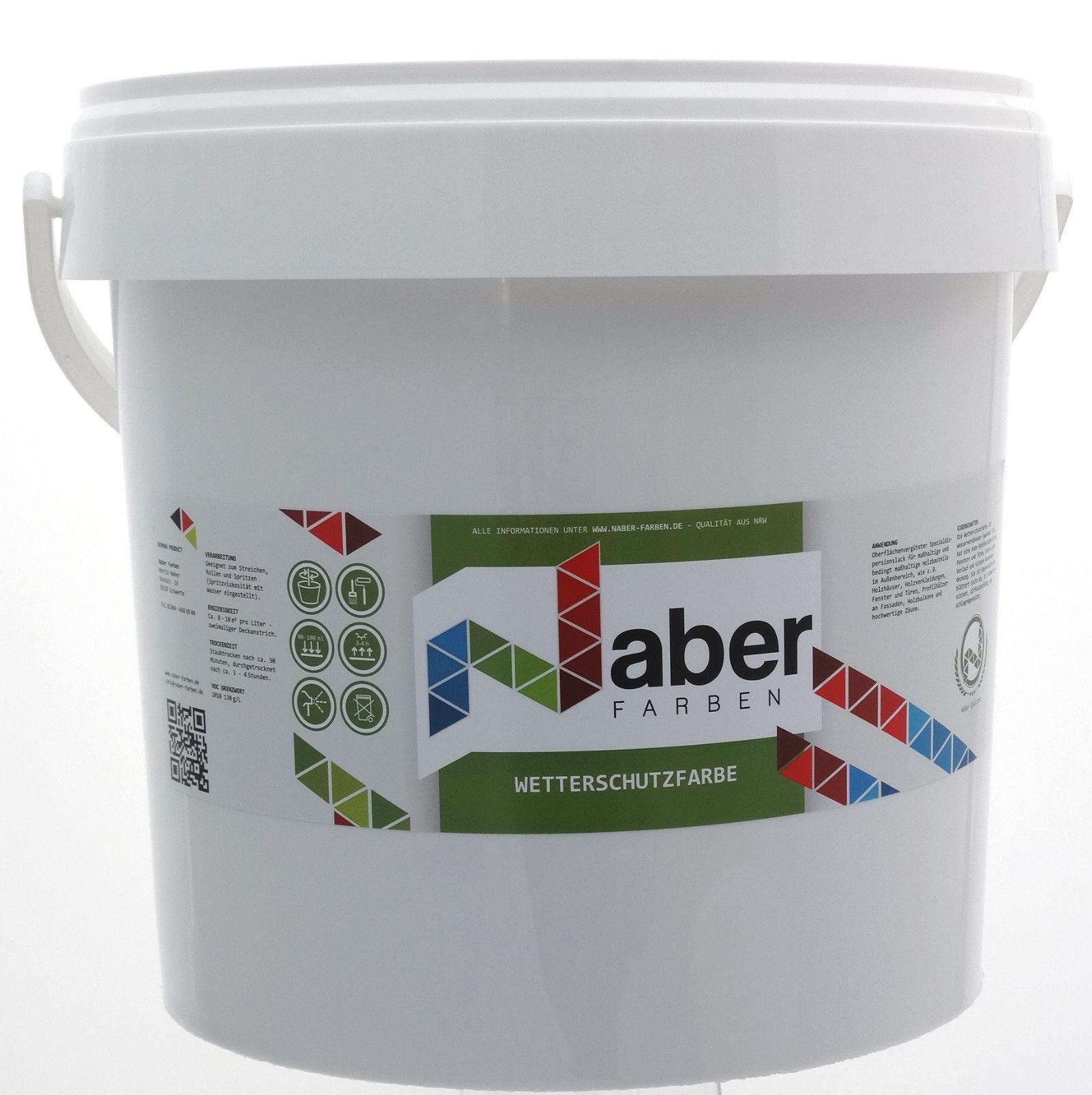 ( /L) 10 Liter - Wetterschutzfarbe - RAL 7031 BLAUGRAU - MATT -