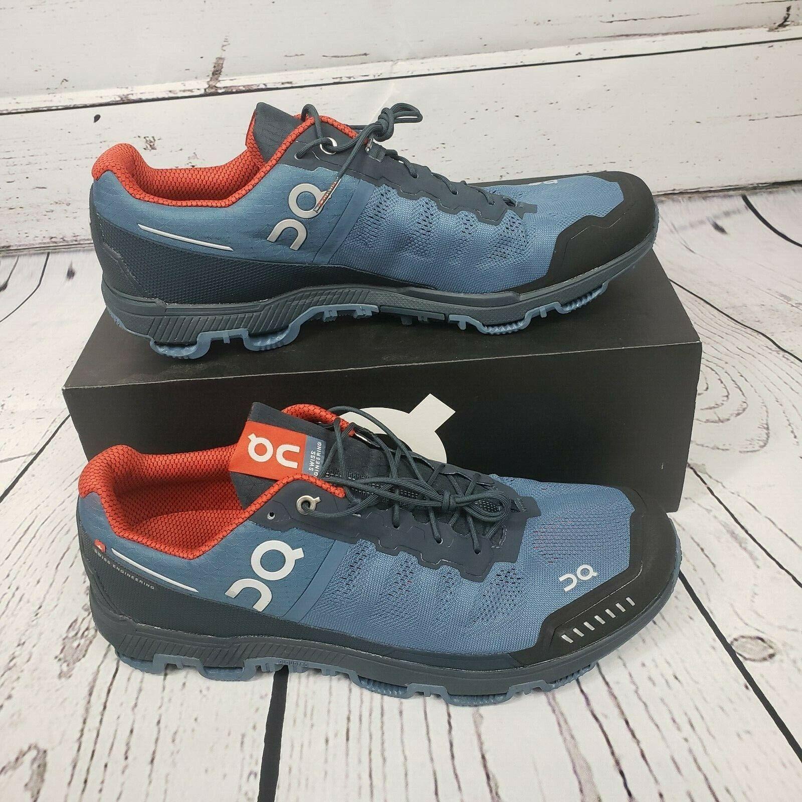 En la nube para hombre cloudventure Fjord   Azul Marino Running Zapatos