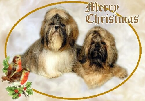 Shih Tzu Dog A6 Christmas Card Design XSHIH-13 by paws2print