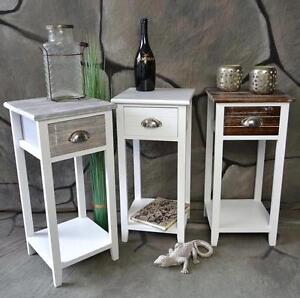 Telefontisch-Beistelltisch-Landhaus-Konsolentisch-Shabby-Vintage-LV