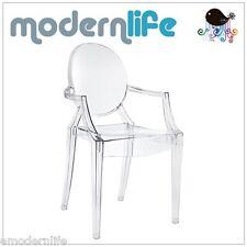 modern louis ghost dining arm chair philipe starck design : clear