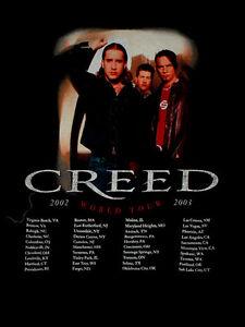 2002 2003 creed weathered scott stapp concert tour rock roll band black shirt l ebay. Black Bedroom Furniture Sets. Home Design Ideas