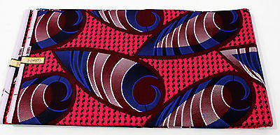 African Abstract Shell Print Fabric Africa new BY 1/2 YD fancy wax ethnic p328