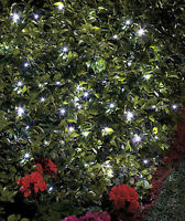 White Solar 100 Led Outdoor Tree Wireless String Garden Party Christmas Lights