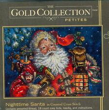 Gold Collection Petites Christmas NIGHTTIME SANTA Cross Stitch Kit
