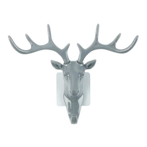 1Pcs Resin Animal Deer Stags Head Hook Hanger Rack Holder Wall Mount Home Decor