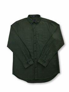 Gant-Tech-Prep-regular-shirt-in-tartan-green-herringbone
