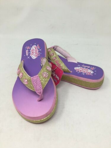 NEW Skechers Youth Girl/'s TWINKLE TOES SUNSHI Pink//Purple//Gold #10752 H19A am