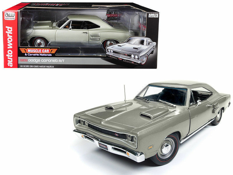 Auto World 1 18 American Muscle 1969 Dodge Cornet R T Diecast voiture AMM1141