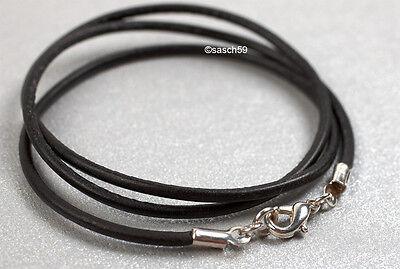 Kautschukkette nach Mass 2mm Kautschukband Kautschuk Halsband schwarz zB 45cm DA