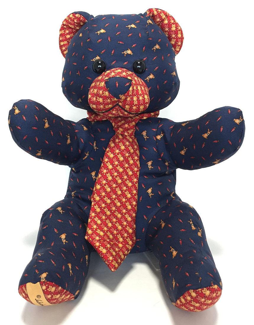 Authentic Ferragamo Teddy Bear Plush Toys Silk 100%
