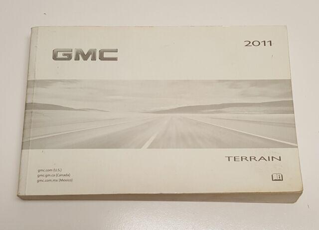 2011 GMC TERRAIN OWNERS MANUAL OPERATOR USER GUIDE SLE SLT ...