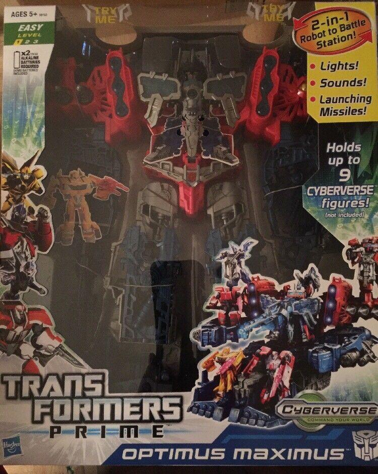 Transformers Prime Optimus Maximus 1 en 2-Robot Battle Station Cyberverse  nouveau  envoi gratuit dans le monde entier