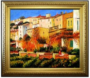 Framed-Renoir-Auguste-Terrace-at-Cagnes-Repro-Hand-Painted-Oil-Painting-20x24in