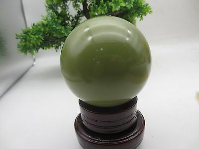 90mm  1pcs glow in the dark green jade quartz crystal sphere ball 1500g healing