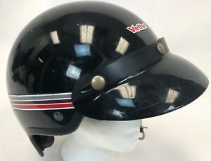 Vintage-Black-Red-Vetter-Fiber-300-Bobber-Motorcycle-Cycle-Snowmobile-Helmet-M