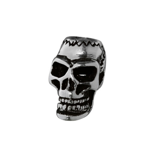 Joyas de pelo Bart perla Skull calavera 925 Sterling plata rizos perla 6451