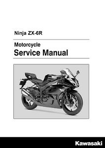 kawasaki ninja zx 6r zx6r 2009 2010 2011 2012 2013 service manual in rh ebay com 2008 zx6r service manual 2008 Zx6r
