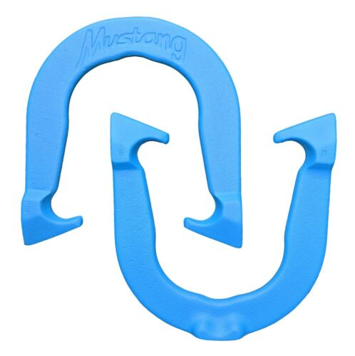 One Pair Made in USA Blue Mustang Pro Professional Pitching Horseshoes